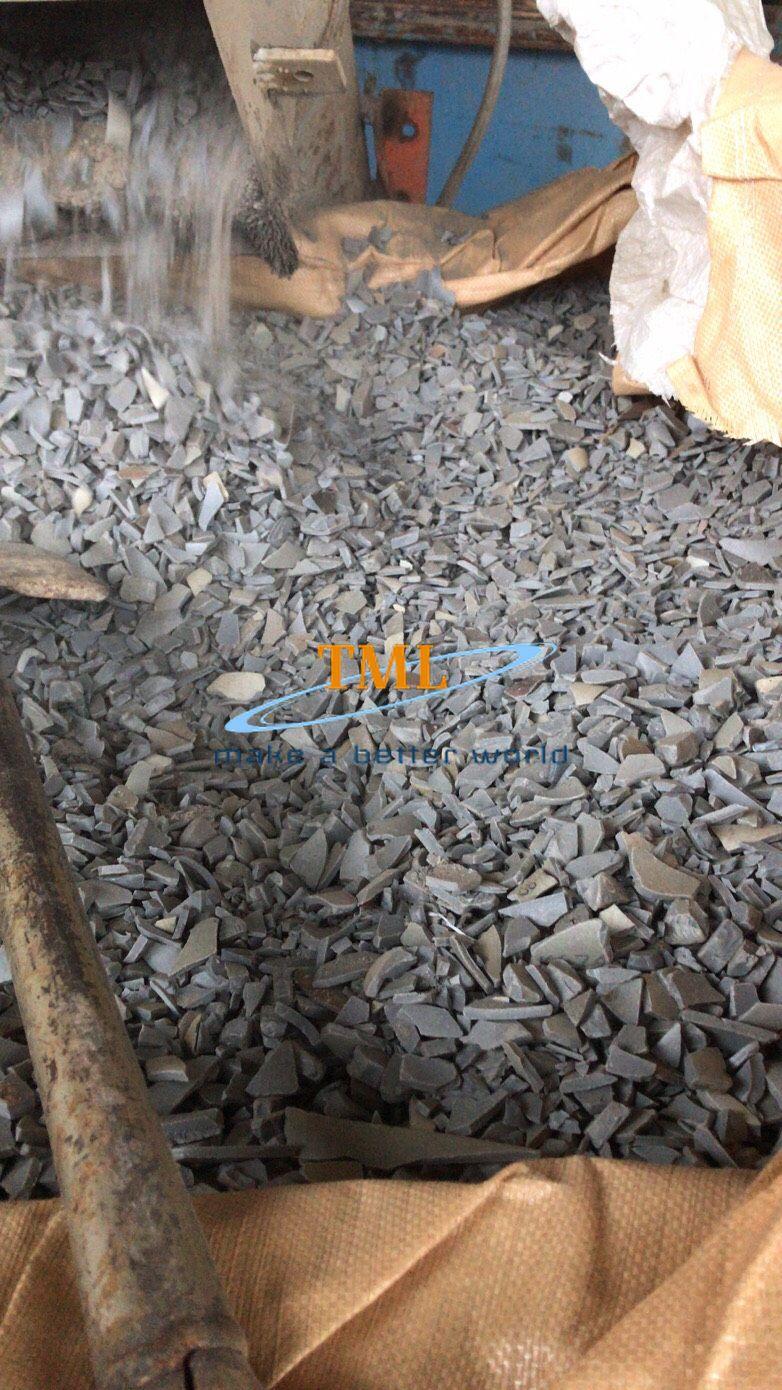 PVC grey pipe regrind 1